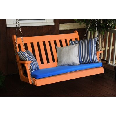 Traditional English Porch Swing Finish: Tangerine