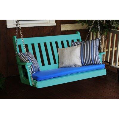 Traditional English Porch Swing Finish: Aruba Blue