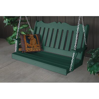 Nicholas English Porch Swing Finish: Turf Green