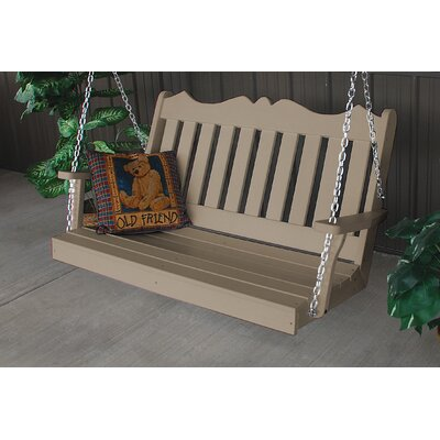 Nicholas English Porch Swing Finish: Weathered Wood