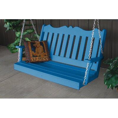 Nicholas English Porch Swing Finish: Blue