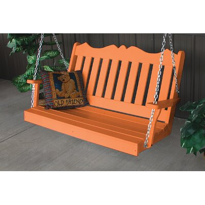 Nicholas English Porch Swing Finish: Tangerine