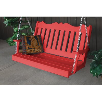 Nicholas English Porch Swing Finish: Bright Red