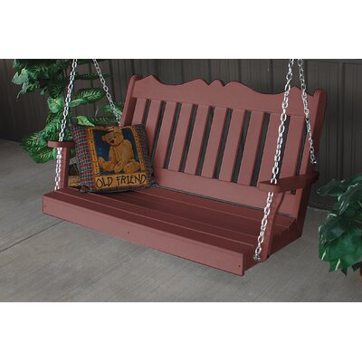 Nicholas English Porch Swing Finish: Cherry Wood