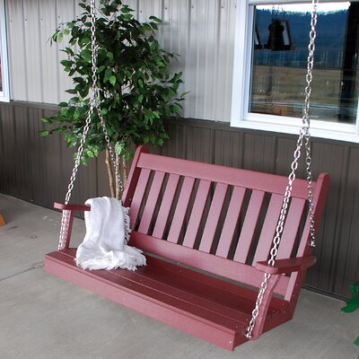 Traditional English Porch Swing Finish: Cherry Wood