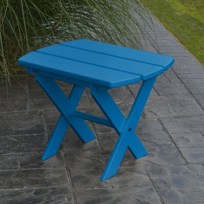 Folding End Table Color: Blue