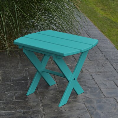 Folding End Table Finish: Aruba Blue