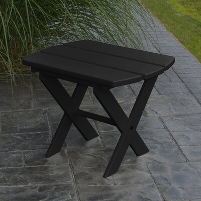 Folding End Table Color: Black