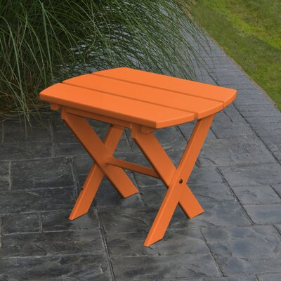 Folding End Table Finish: Tangerine