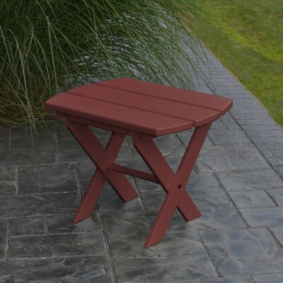 Folding End Table Color: Cherry Wood