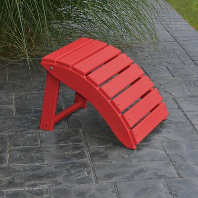Folding Ottoman Finish: Bright Red