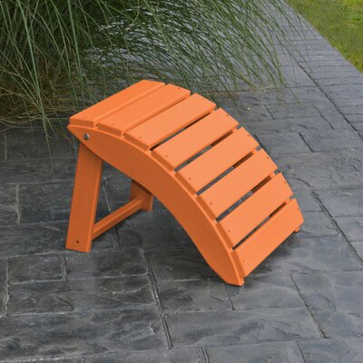 Folding Ottoman Finish: Tangerine