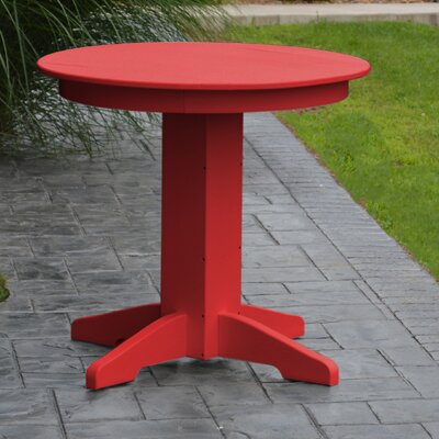 Dining Table Finish: Bright Red