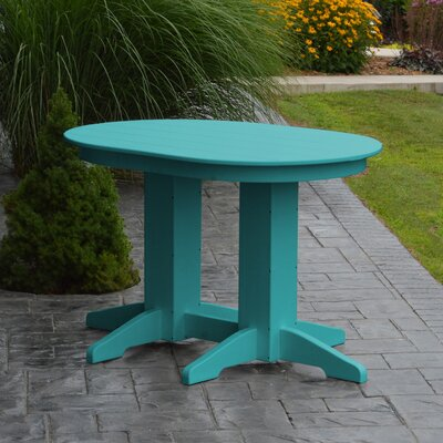 Nettie Dining Table Color: Aruba Blue, Table Size: 60 L x 33 W