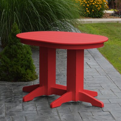 Nettie Dining Table Color: Bright Red, Table Size: 48 L x 33 W