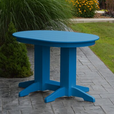 Nettie Dining Table Color: Blue, Table Size: 48 L x 33 W