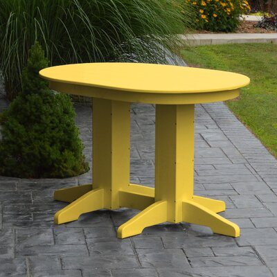 Nettie Dining Table Color: Lemon Yellow, Table Size: 48 L x 33 W