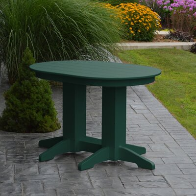 Nettie Dining Table Color: Turf Green, Table Size: 48 L x 33 W