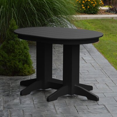 Nettie Dining Table Color: Black, Table Size: 48 L x 33 W