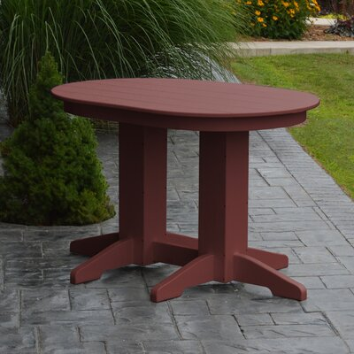 Nettie Dining Table Color: Cherrywood, Table Size: 48 L x 33 W
