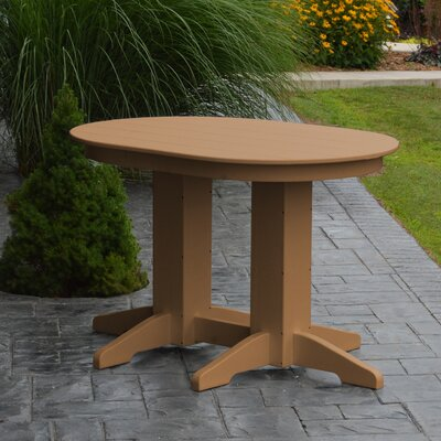 Nettie Dining Table Color: Cedar, Table Size: 48 L x 33 W