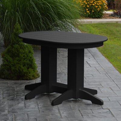 Nettie Dining Table Color: Black, Table Size: 60 L x 33 W