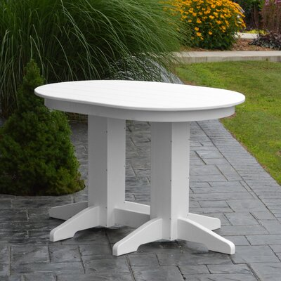 Nettie Dining Table Color: White, Table Size: 48 L x 33 W