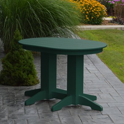 Nettie Dining Table Color: Turf Green, Table Size: 60 L x 33 W