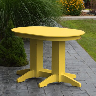 Nettie Dining Table Color: Lemon Yellow, Table Size: 60 L x 33 W