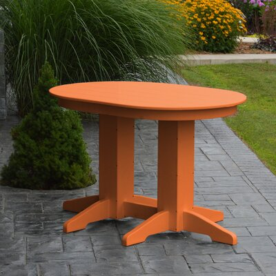 Nettie Dining Table Color: Orange, Table Size: 48 L x 33 W