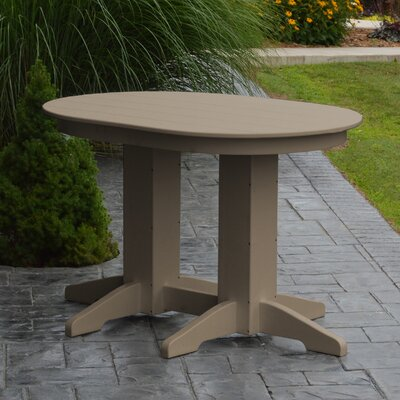 Nettie Dining Table Color: Weathered Wood, Table Size: 48 L x 33 W
