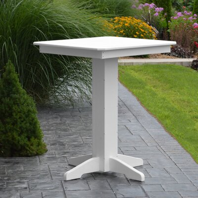 Nettie Bar Table Color: White, Table Size: 33 L x 33 W
