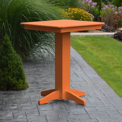 Nettie Bar Table Color: Orange, Table Size: 33 L x 33 W