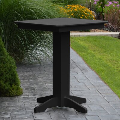 Nettie Bar Table Color: Black, Table Size: 33 L x 33 W