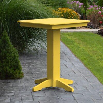 Nettie Bar Table Color: Lemon Yellow, Table Size: 33 L x 33 W
