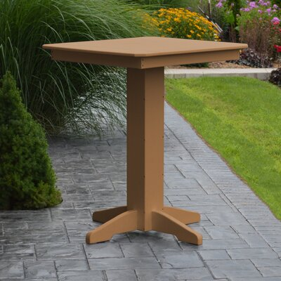 Nettie Bar Table Color: Cedar, Table Size: 44 L x 44 W