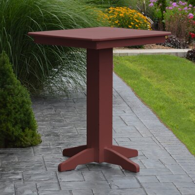 Nettie Bar Table Color: Cherrywood, Table Size: 33 L x 33 W