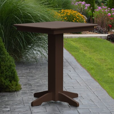 Nettie Bar Table Color: Tudor Brown, Table Size: 44 L x 44 W