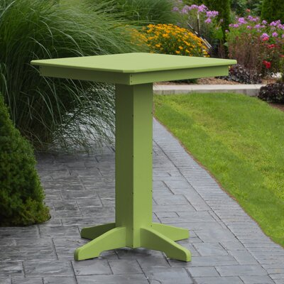 Nettie Bar Table Color: Lime Green, Table Size: 33 L x 33 W