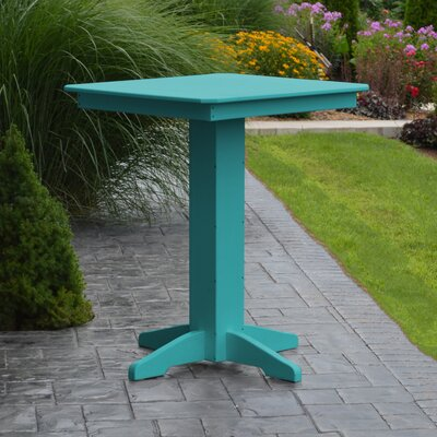 Neville Bar Table Color: Aruba Blue, Table Size: 44 L x 44 W