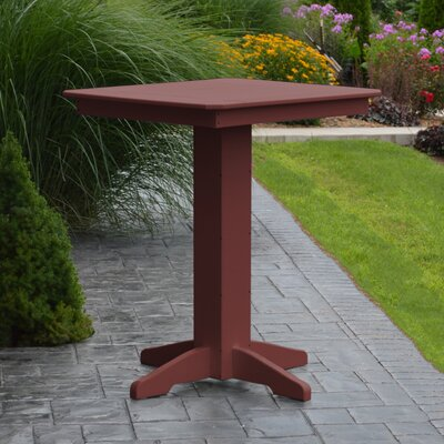 Neville Bar Table Color: Cherrywood, Table Size: 33 L x 33 W