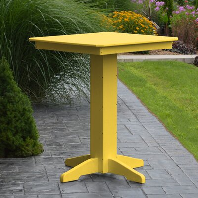 Neville Bar Table Color: Lemon Yellow, Table Size: 44 L x 44 W
