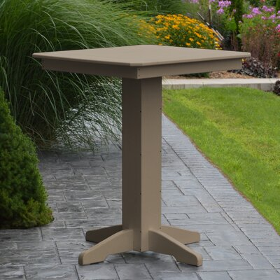 Neville Bar Table Color: Weathered Wood, Table Size: 44 L x 44 W