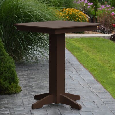 Neville Bar Table Color: Tudor Brown, Table Size: 44 L x 44 W