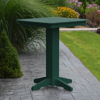 Neville Bar Table Color: Turf Green, Table Size: 44 L x 44 W