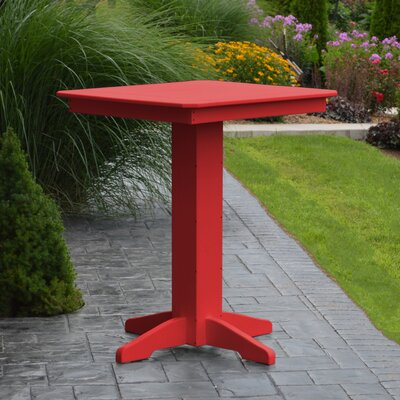 Neville Bar Table Color: Bright Red, Table Size: 44 L x 44 W