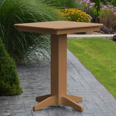 Neville Bar Table Color: Cedar, Table Size: 33 L x 33 W