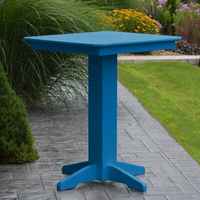 Neville Bar Table Color: Blue, Table Size: 44 L x 44 W