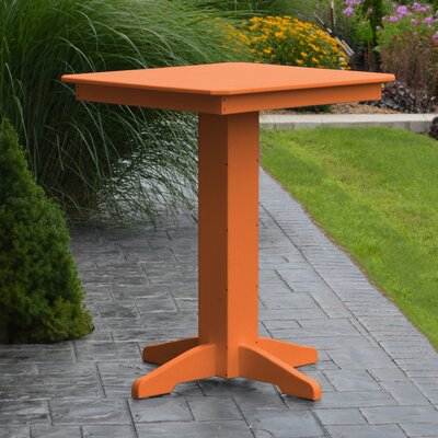 Neville Bar Table Color: Orange, Table Size: 33 L x 33 W