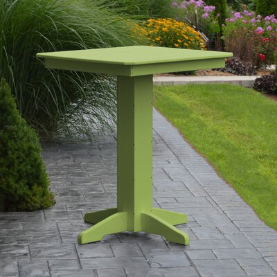 Neville Bar Table Color: Lime Green, Table Size: 44 L x 44 W